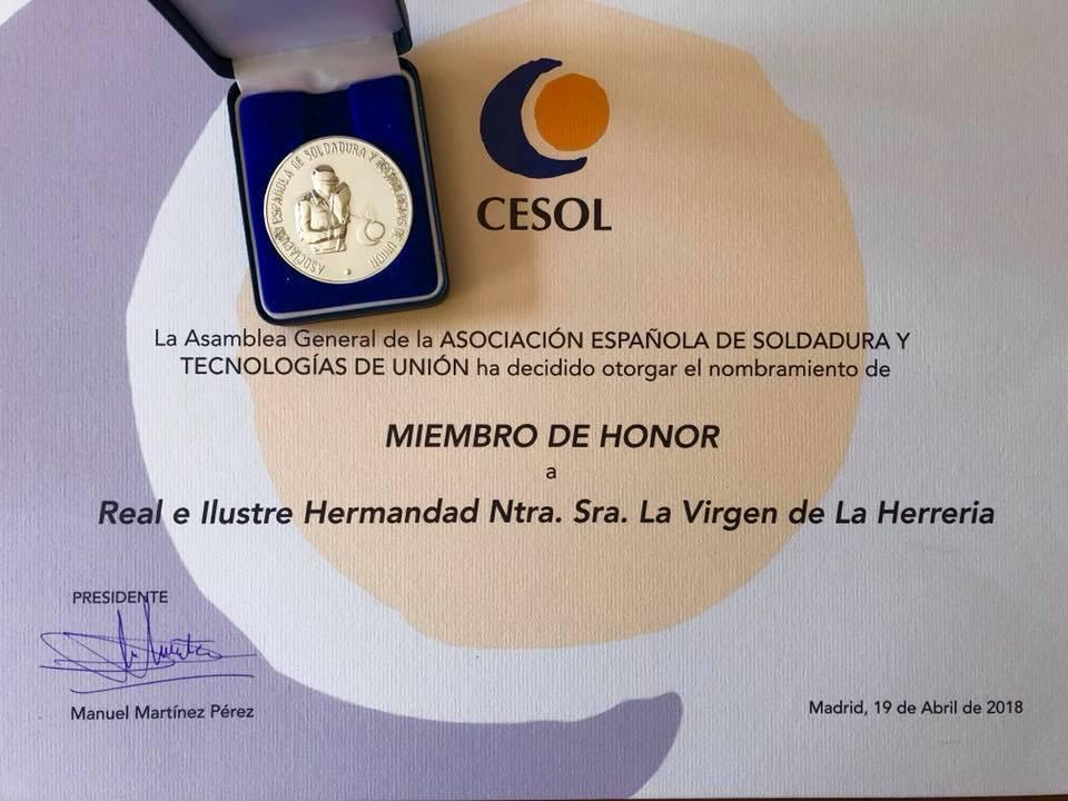MIEMBRO DE HONOR CESOL