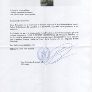 Carta Párroco de El Escorial