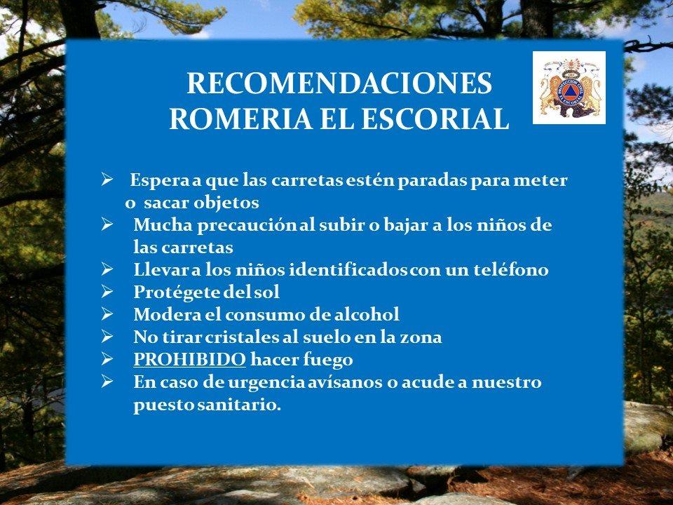 RECOMENDACIONES ROMERÍA VIRGEN DE LA HERRERIA